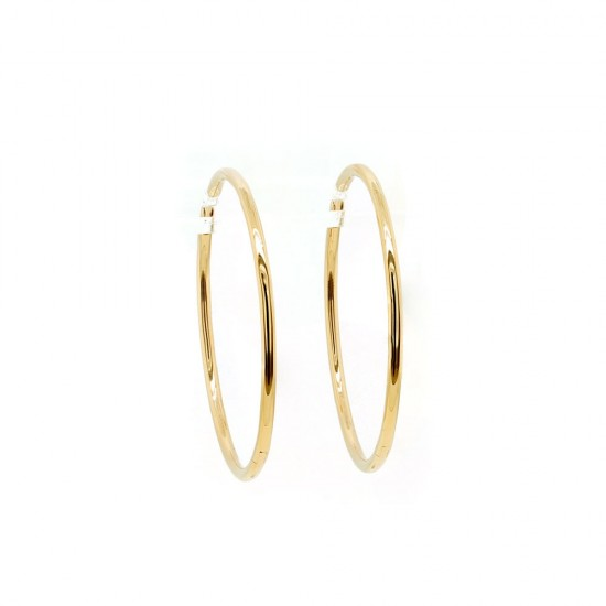 Yellow Gold Hoop Earrings 39mm