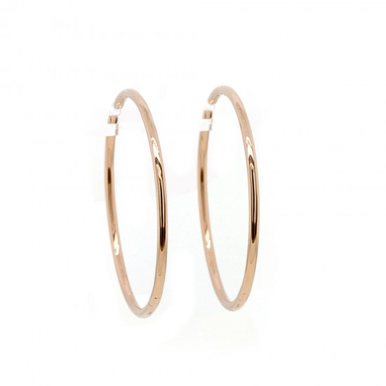 Rose Gold Hoop Earrings 39mm