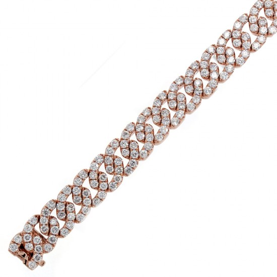 Rose Gold Diamond Link Bracelet