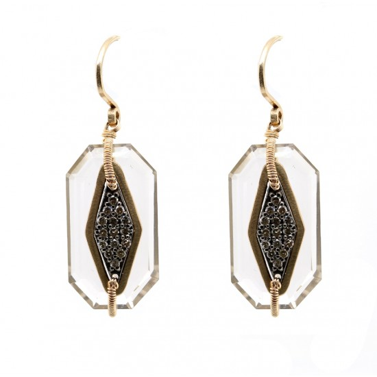 Dana Kellin Diamond and Quartz Earrings