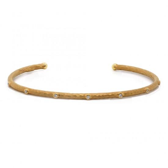 Marika Bezel Set Cuff Bracelet