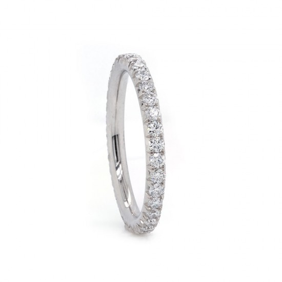 French Pave Diamond Eternity Band 0.78 tcw