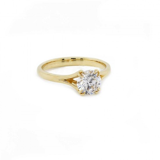 Yellow Gold Split Shank Solitaire