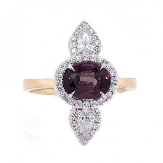 Spinel Art Deco Inspired Ring