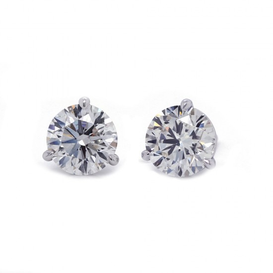 2.04 Carat Diamond Stud Earrings