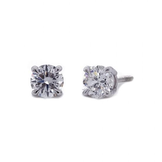 0.62 Carat Diamond Stud Earrings