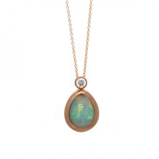 Opal Rose Gold Pendant