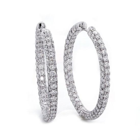 Diamond Hoop Earring 4.50 cttwt