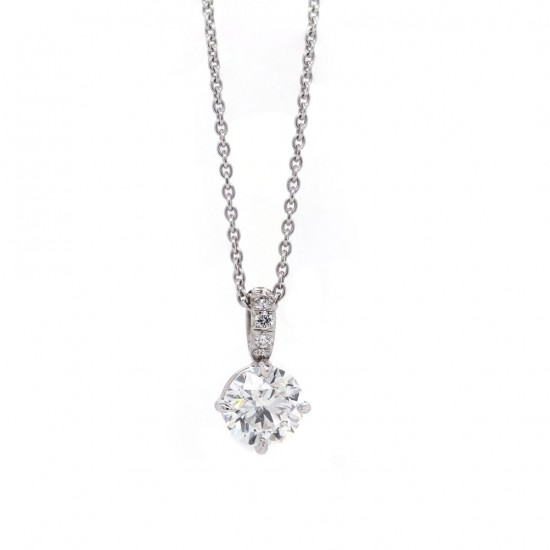 Diamond Solitaire Pendant 1.08ct