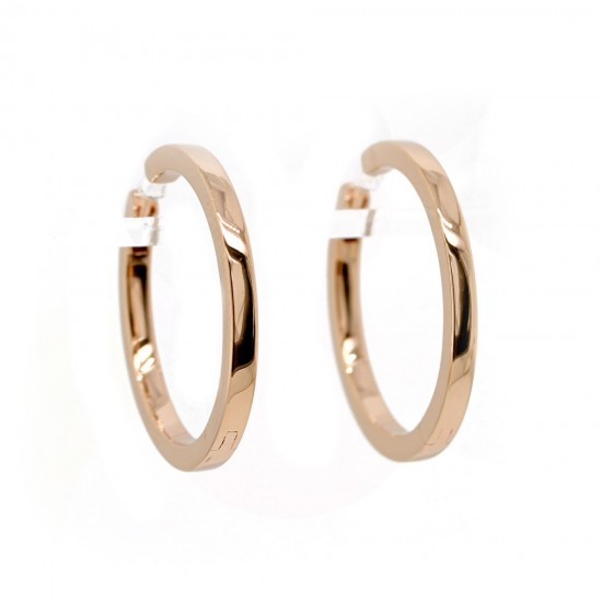 Rose Gold Hoop Earrings 24mm