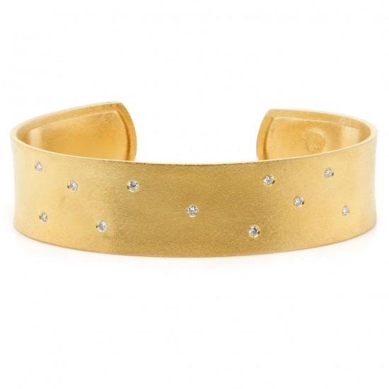 Marika Yellow Gold Diamond Cuff Bracelet