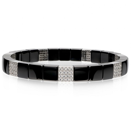 Roberto Demeglio Domino Black Ceramic Diamond Bracelet