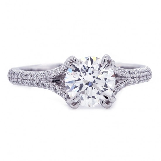 Delicate Split Shank Diamond Engagement Ring