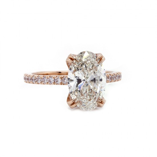 Oval Diamond Rose Gold Engagement Ring