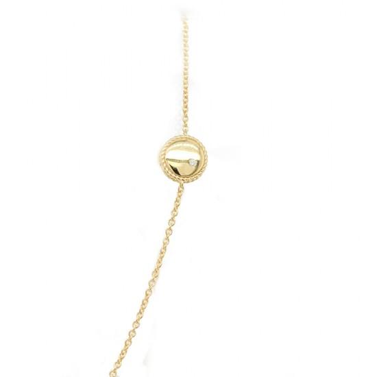 Yellow Gold Adjustable Disc Bracelet