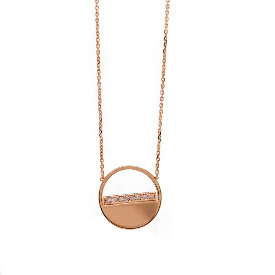 Half Open Diamond Circle Necklace