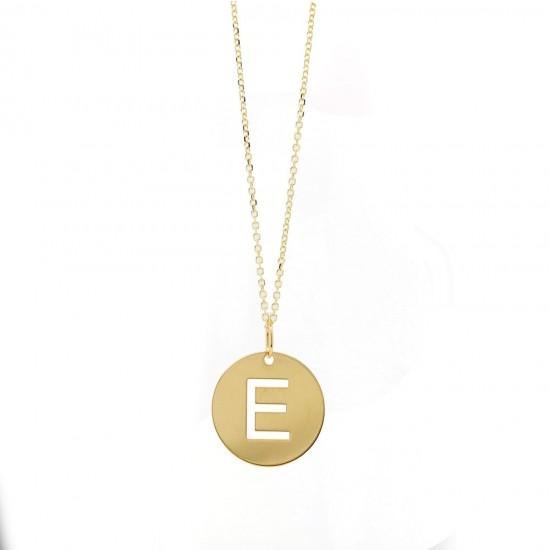 'E' Initial Disc Pendant