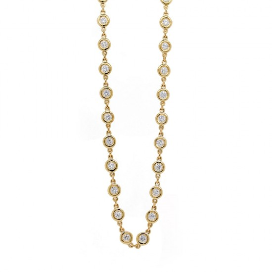 Diamond by the Yard style Necklace 20""
