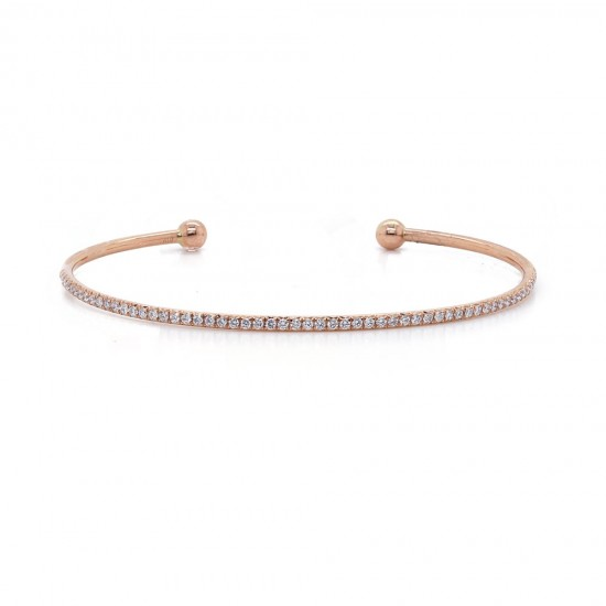 Rose Gold Diamond Cuff Bracelet