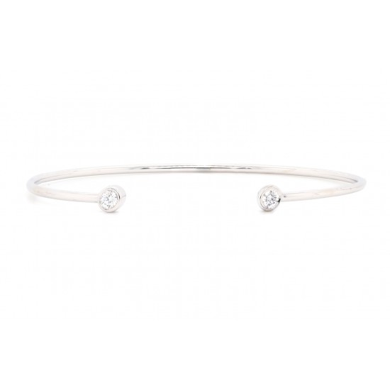 White Gold Diamond Cuff Bracelet