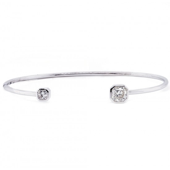 Lucere Cut Diamond Cuff Bracelet