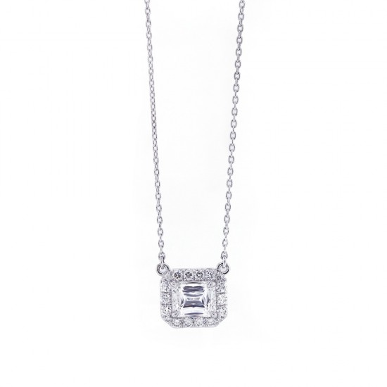 Criss Cut Diamond Halo Pendant