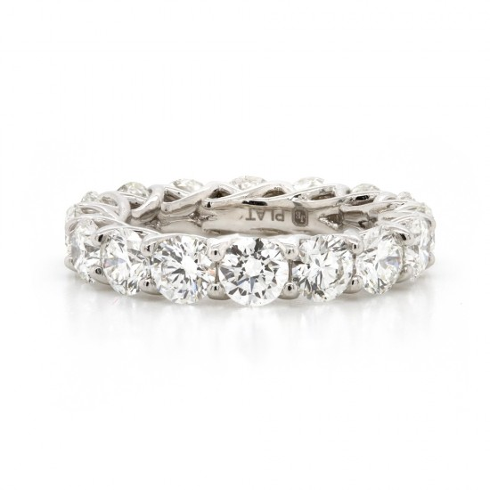 Platinum Ideal-Cut Diamond Eternity