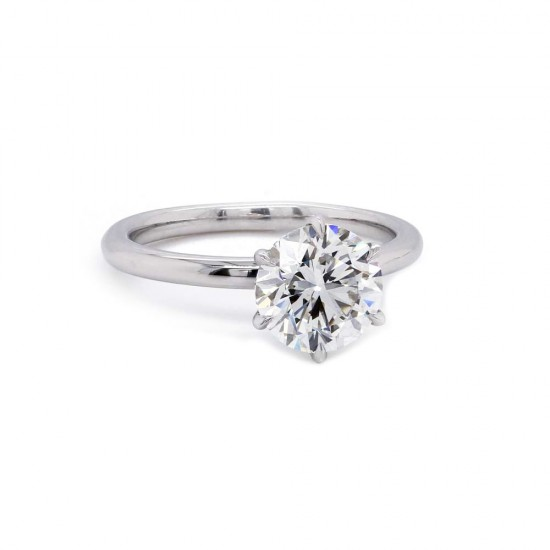 6 Prong Diamond Solitaire Engagement Ring