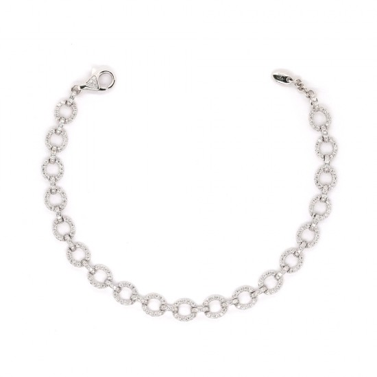Pave Circle Diamond Bracelet