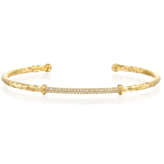 Marika Diamond Pave Bangle Bracelet