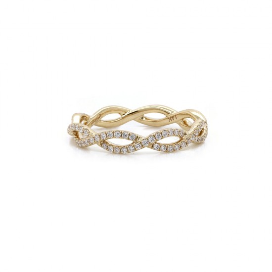 Twisted Style Diamond Band