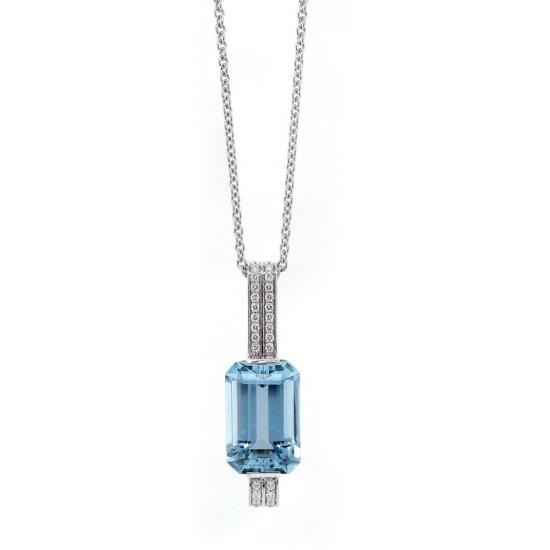Aquamarine Deco Inspired Pendant