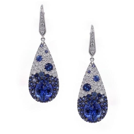 Blue Sapphire Dream Drop Earrings