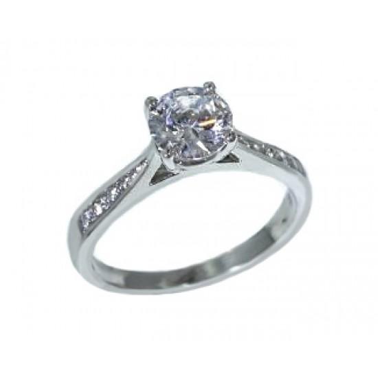 Jeff Cooper reverse taper channel diamond ring