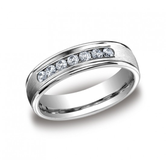 Seven diamond channel set 6.0mm band