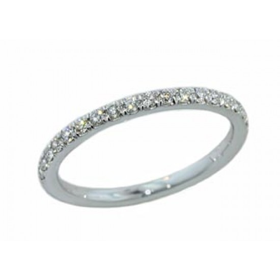 Handmade .27ctw 1/2 pave' 18k white gold band