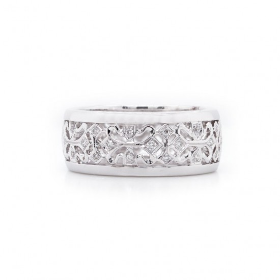 Diamond Filigree Eternity Band