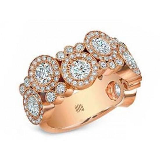"Kifani collection rose gold diamond ""Bubble"" ring"