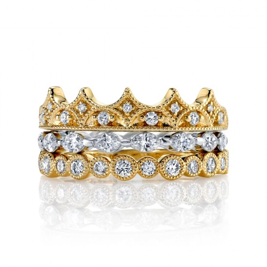 Stacking Style Diamond Bands