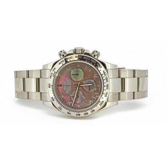 Rolex Daytona Black Mother of Pearl in white gold