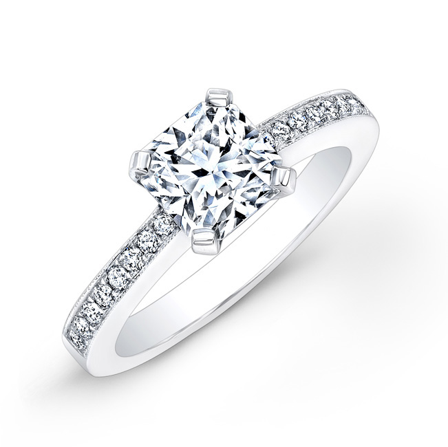 Ideal Square Diamond engagement ring