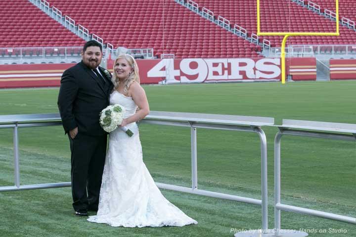 Wedding at Levi's stadium Winner Giveaway Joe Escobar Diamonds